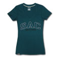 Jrs Sac Ulta Darcy V-Neck Tee, Jansport - Teal