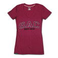 Jrs Sac Ulta Darcy V-Neck Tee, Jansport - Fuschia