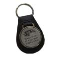 Scc Leather/ Pewter Key Fob