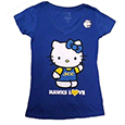 Hello Kitty V-Neck Tee, Royal